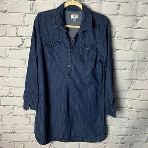 Old Navy Dress Size Large Chambray Denim Look